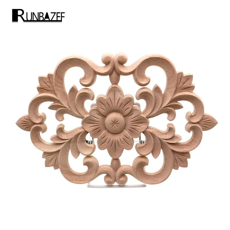 Runbazef woodcarving furniture decoration style solidwood for Applique furniture decoration