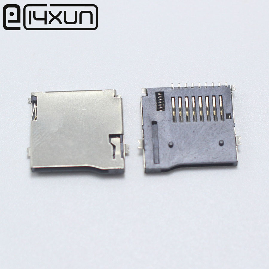 10pcs/lot 9pin Micro SD Card Slot Connectors, Size 14*15mm TF Card Deck, Fit For Phone, Tablet, Vehicle Navigation The Pop-up