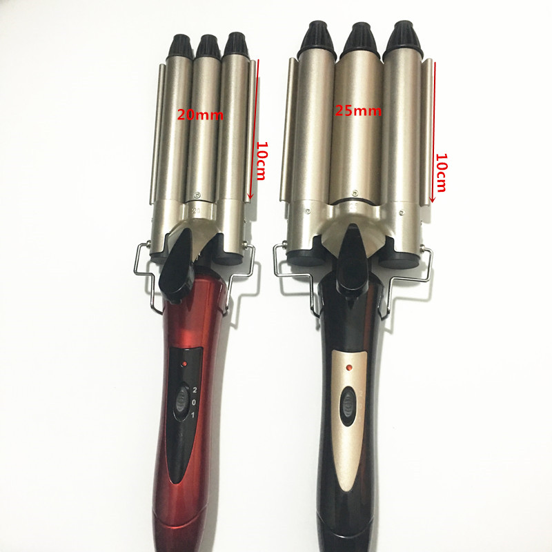 Voltage: 110-240 - V South Korea Cone Head Three Great Curlers Artifact Tube Curling Iron Cake Ceramic Perm Water Ripple