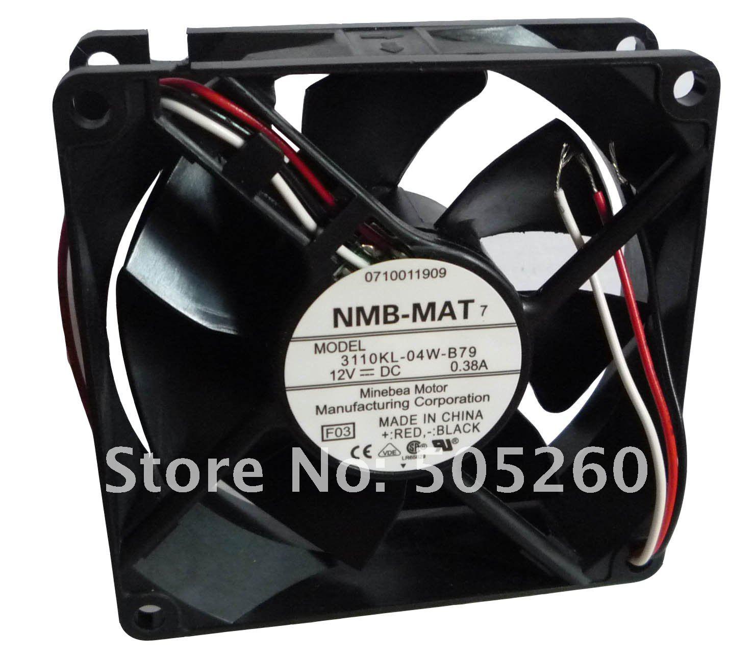 NMB 100%מקורי חדש** 8025 DC12V 0.38 לי 3110KL-04W-B79 F03 3wire אות אזעקה מאוורר קירור