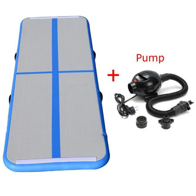 Gofun AirTrack 10ft x 3 ft Air Tumbling Track Mat Gymnastics Exercise Pad Inflatable Gym Training Mats Balance 110V Air Pump