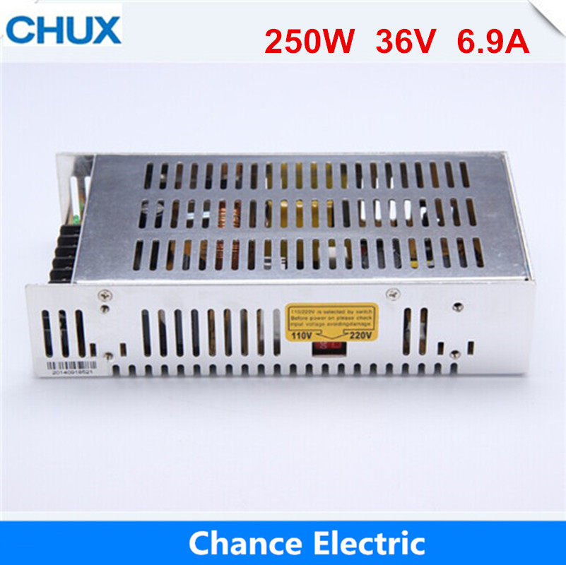 250W Single Output  ac to dc 220V to 36v  (S-250-36)  free shipping 36v Switching Power Supply 1000w 0 to 36v adjustable 27 1a single output switching power supply ac to dc 110v or 220v