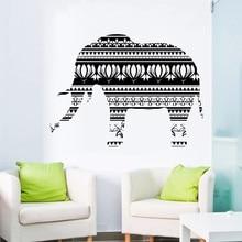 Africa Style Vinyl Art Design Elephant Religious Wall Mural Native Ornament Sticker Home Bedroom Decor Y-813