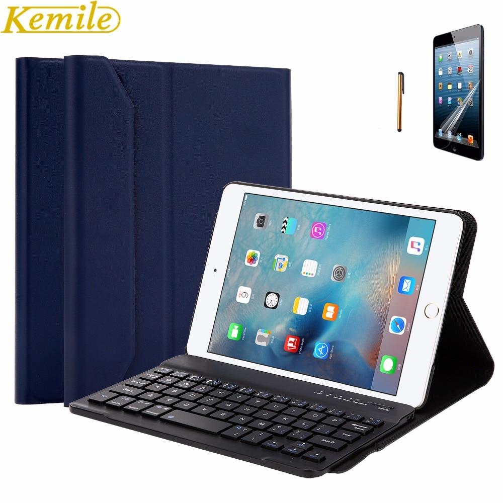 Kemile портативный Съемный беспроводной Алюминиевый сплав Bluetooth клавиатура ультратонкая Магнитная крышка Подставка для Ipad Mini 1 2 3 Клавиатура