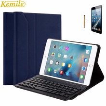 Kemile Portable Removable Wireless Aluminum Alloy Bluetooth Keyboard Ultra Slim Magnetic Cover Stand For iPad Mini 1 2 3 Keypad
