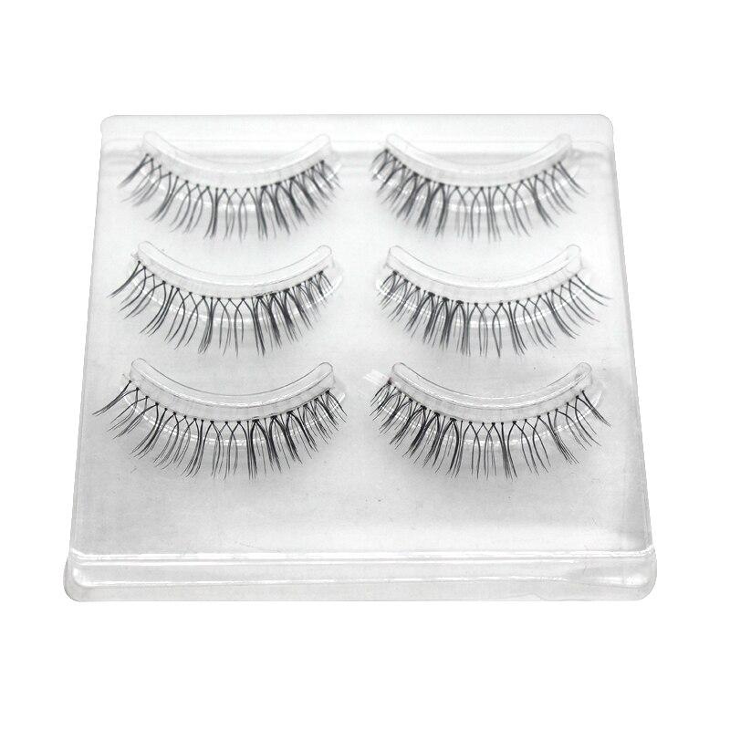 QBEKA 30 Pairs Length Black Mink False Eyelashes Lashes Soft Eyelash Extension Fake Natural Lash Make Up Beauty Free Shipping M1 цена 2016