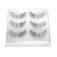 QBEKA 30 Pairs Length Black Mink False Eyelashes Lashes Soft Eyelash Extension Fake Natural Lash Make