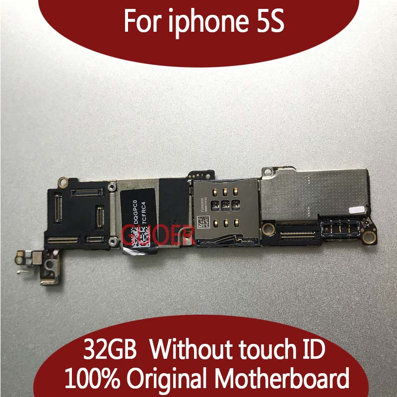 32GB for iphone 5s Mainboard with Chips 100 Original Unlocked for iphone 5s Motherboard without Touch