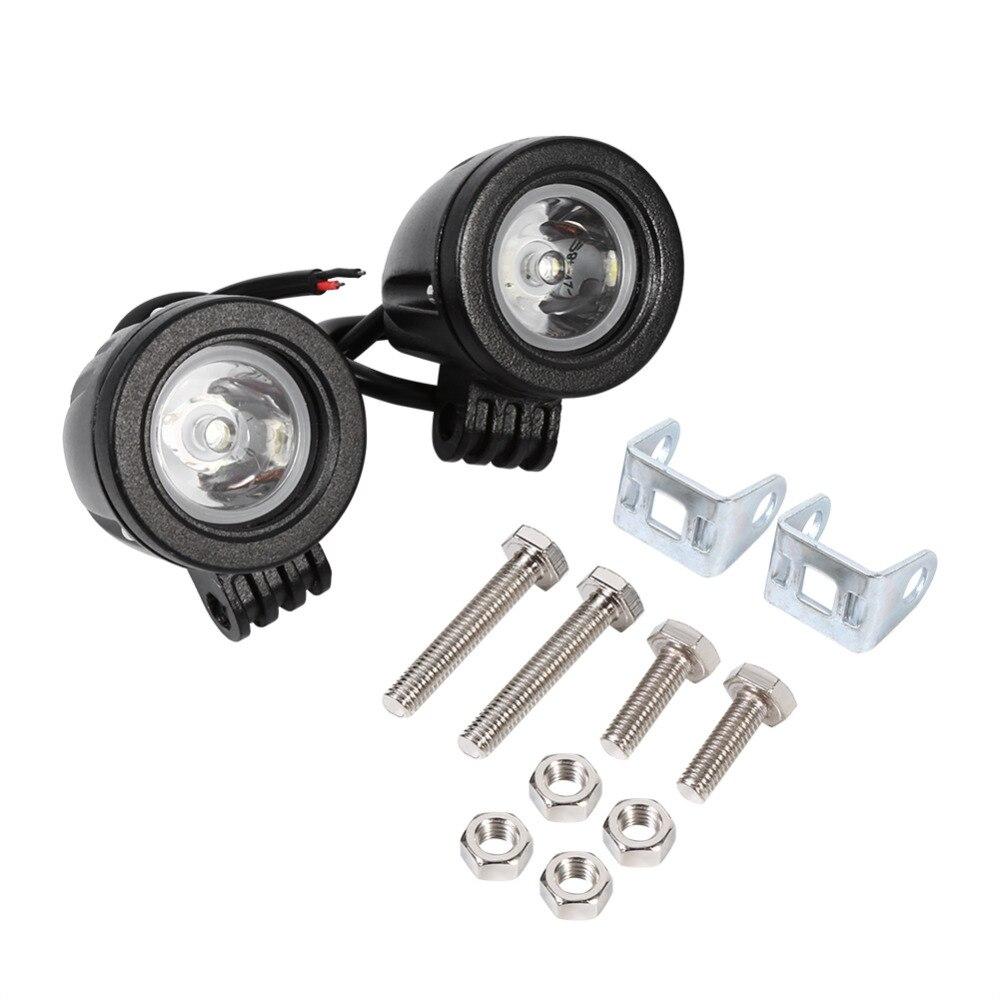 1 пара 10 Вт светодиодный высокое Мощность свет работы Off Road Driving туман лампы пятно мотоциклетные Motocicleta Accesorios Moto