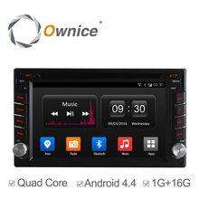 C300 Ownice Quad Core Android 4.4 Universal de Coches Reproductor de DVD GPS navegación 2Din Car Stereo Radio 16G ROM soporte enlace espejo IPOD