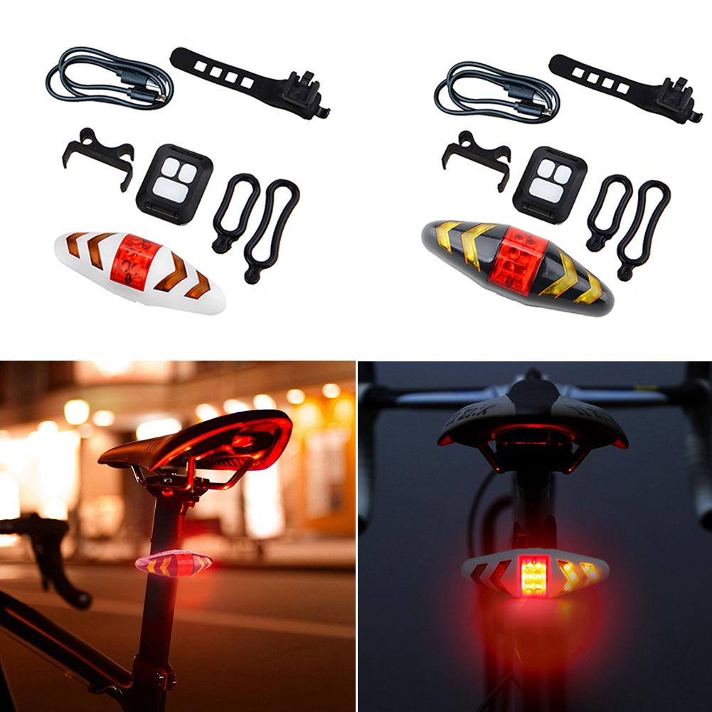 USB Blinker Lamp LED Bike Tail Light Laser Turn Signal /& Remote Control 500mAh