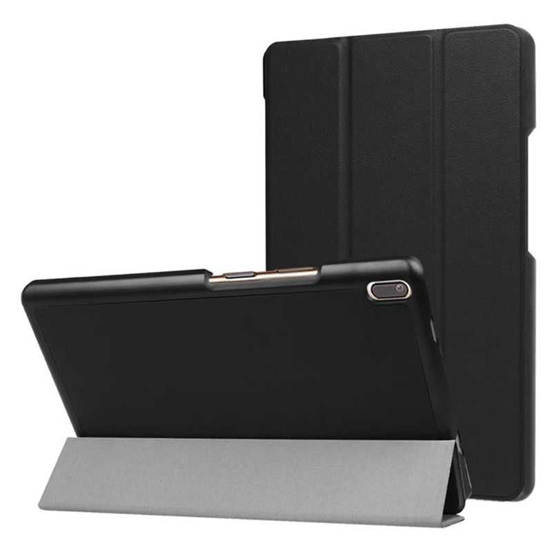 Slim Magnetische Folding PU Case voor lenovo Tab4 tab 4 8 Plus TB-8704x TB-8704F Tablet cover voor lenovo Tab 4 8 plus case + film Pen