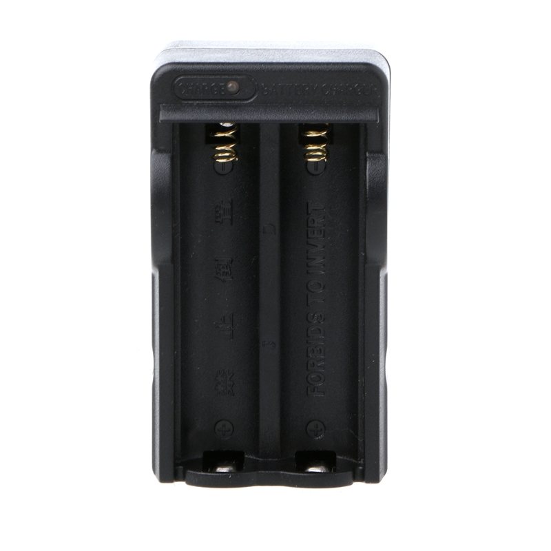 OOTDTY 2 Charging Slots Charger 100-240V US Plug For 18650 Rechargeable Li-Ion Battery
