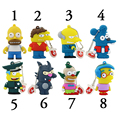 2017 Nova Família Simpson USB Flash Drives 32 GB 64 GB Mini USB Pen Drive Flash 16 GB 8 GB carro/Thumb/Pendrives Lobo Rato Do Presente