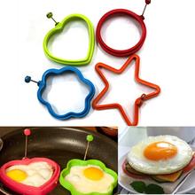 Kitchen tools Silicone Fried Egg Pancake Ring Omelette Round Shaper Eggs Mould for Cooking Breakfast Frying Pan