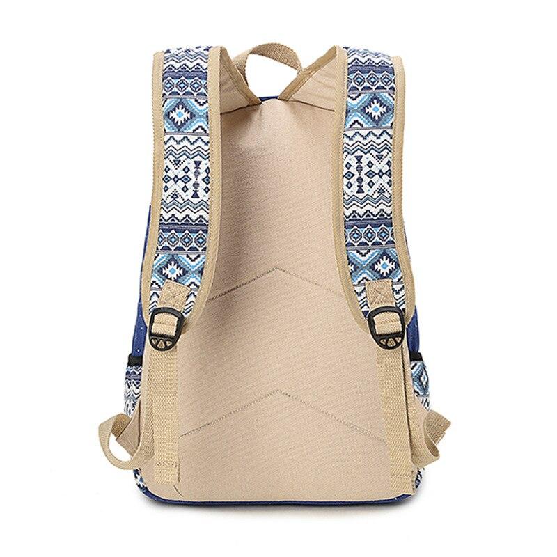 1679540983 National Cute Dot Printing Canvas School Bags Laptop Backpacks Travel Bag  For Girls Women Bolsas Mochila Escolar Brand Genuine-in Backpacks from  Luggage ...