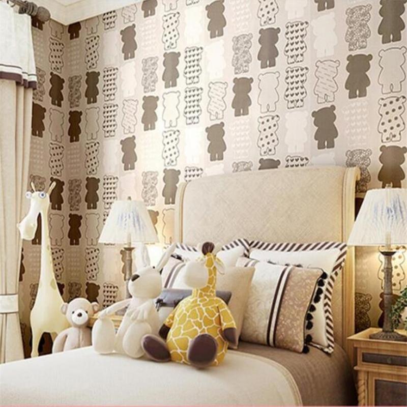 ФОТО Beibehang Simple 3D stereo wallpaper children bedroom living room background wallpaper pastoral style murals wallpaper roll 3d