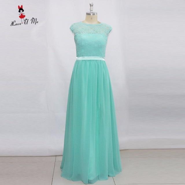 Vestido Madrinha Longo Mint Green Bridesmaid Dresses Long Lace ...