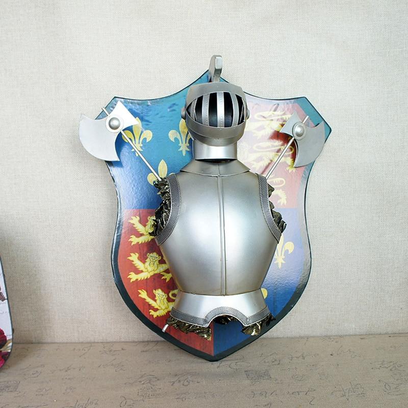 Скандинавское украшение дома металлический самурайский щит подвесные украшения креативные Металлические ремесла магазин Декор на стену для дома украшения аксессуары - 4