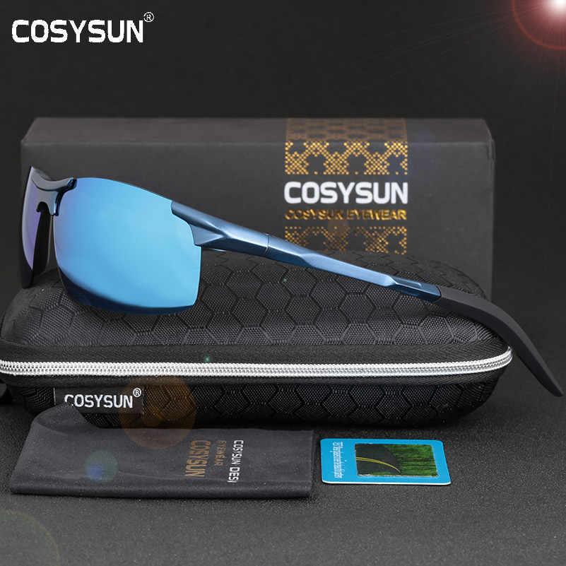 ac65098ab3 COSYSUN los hombres gafas de sol polarizadas de aluminio de aleación de  gafas de sol hombre