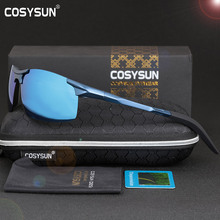 COSYSUN Men Polarized Sunglasses Aluminum Alloy Sunglasses Man Mirror Lens Polarized Driving Sunglasses Mens Sunglasses 6 Color