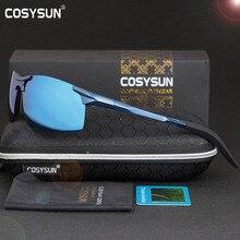 Cosysun Mannen Gepolariseerde Zonnebril Aluminium Zonnebril Man Spiegel Lens Gepolariseerde Rijden Zonnebril Mannen Zonnebril 6 Kleur
