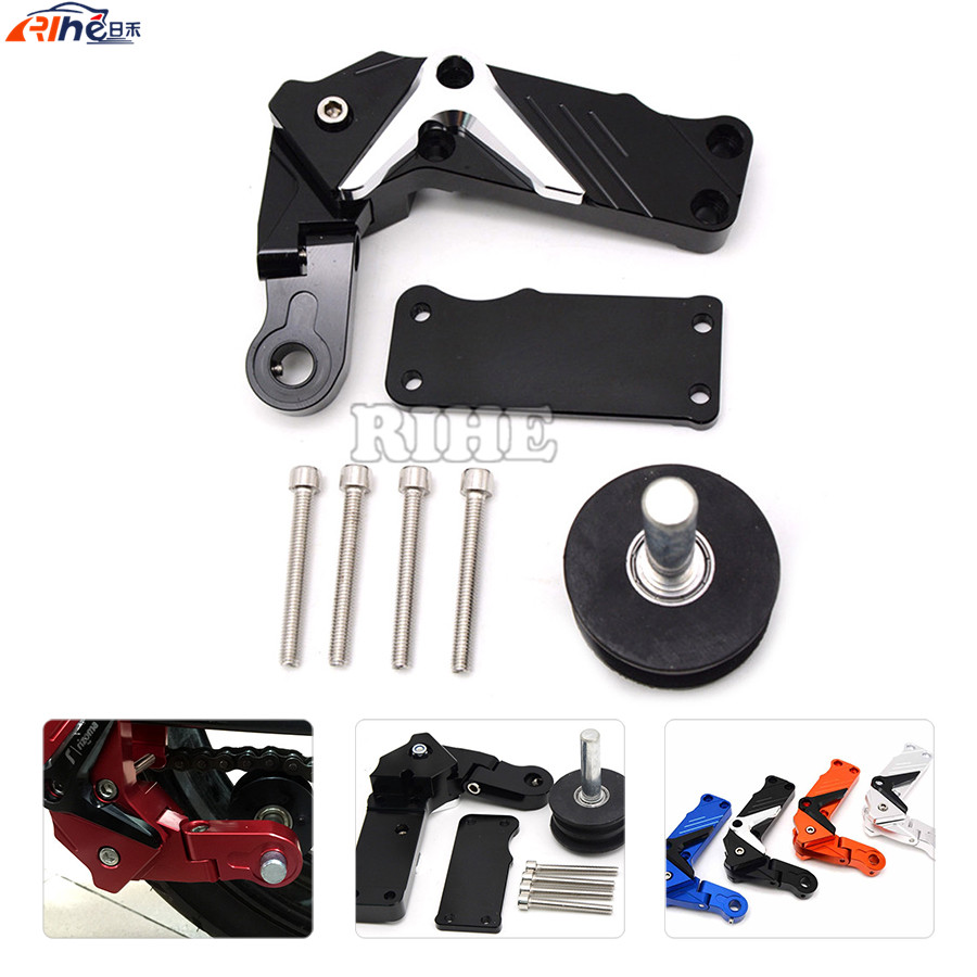 Universal Motorcycle Parts CNC Tensioners Catena rear axle spindle chain adjuste For yamaha  r6 fz1 r1 ybr 125 r25 xj6 xjr rockbros titanium ti pedal spindle axle quick release for brompton folding bike bicycle bike parts