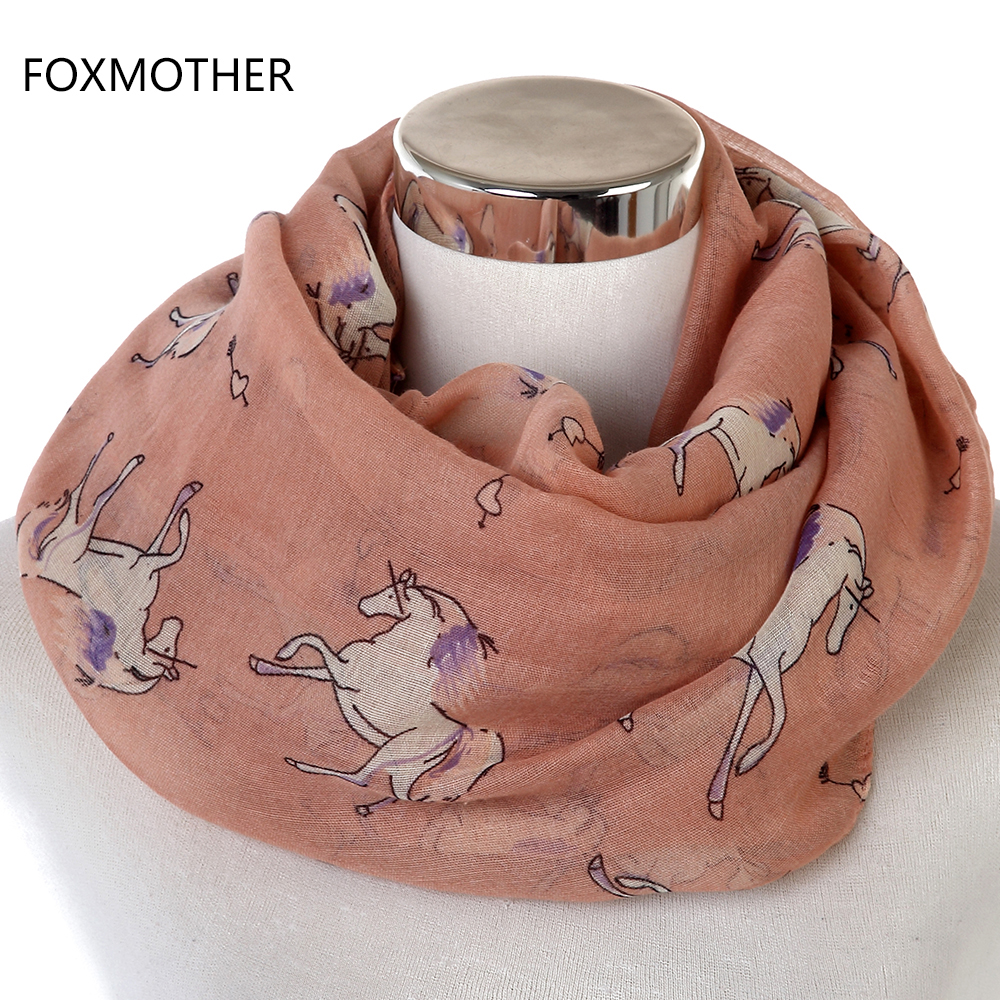 FOXMOTHER 2018 Nuevas bufandas ligeras de moda Soft Horse Infinity - Accesorios para la ropa - foto 3