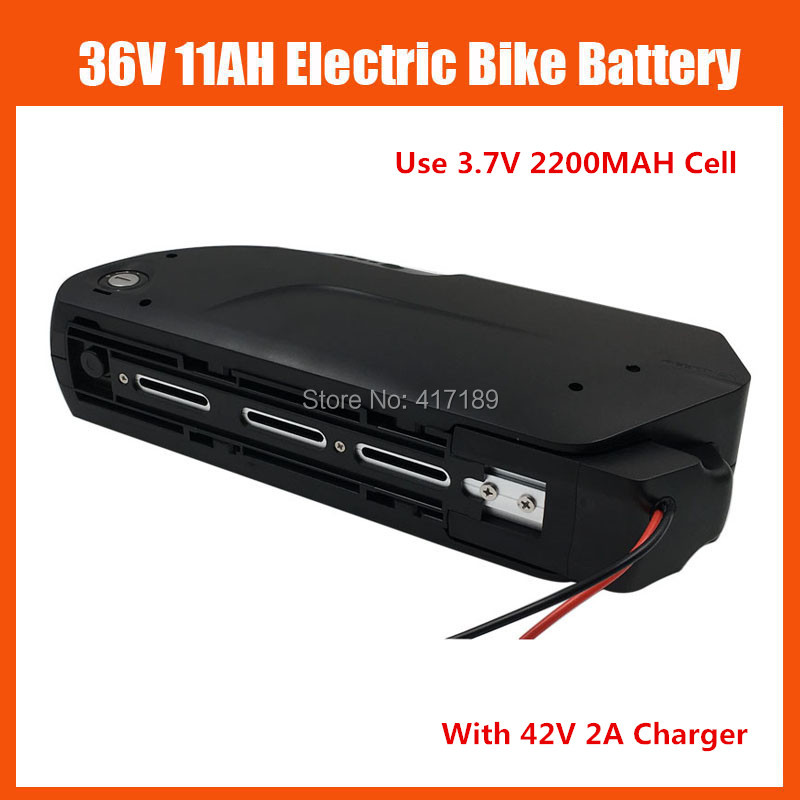 36V shark down tube lithium ion Battery 500W 36 V 11AH Electric bike Bicycle battery with USB Port 42V 2A charger free shipping image