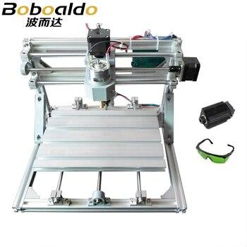 CNC 2418 + 2500 mw laser GRBL contrôle bricolage haute puissance laser gravure CNC machine, 3 axes pcb fraiseuse, bois routeur + 2.5 w laser