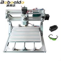 CNC 2418+2500mw laser GRBL control Diy high power laser engraving CNC machine,3 Axis pcb Milling machine,Wood Router+2.5w laser