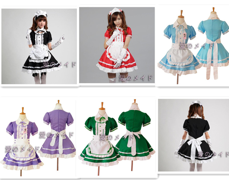 adult women Halloween Costumes Sexy French Maid Costume Sweet Gothic Lolita Dress Anime Cosplay Sissy Maid Uniform A306