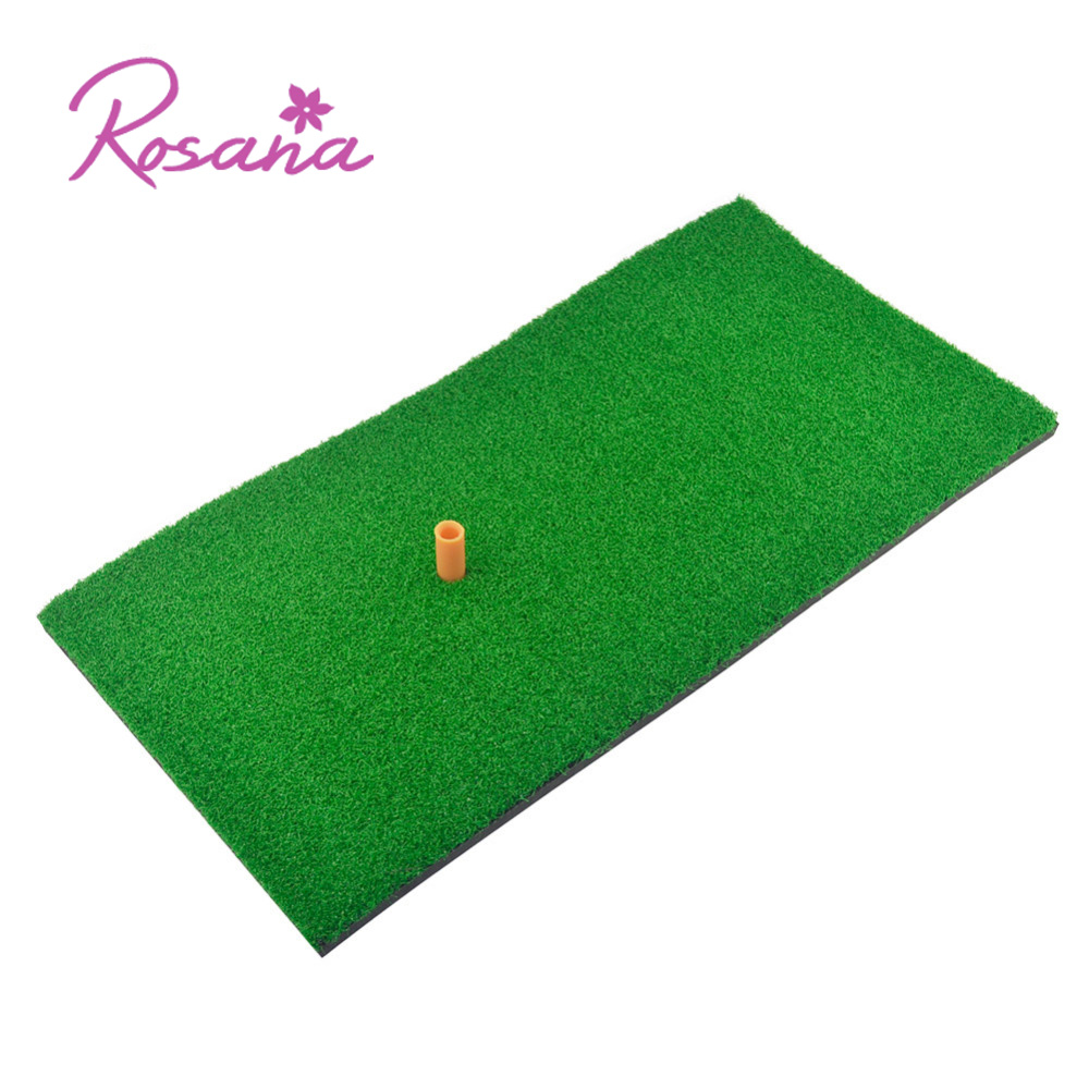 Rosana Indoor Backyard Toys Nylon Golf Mat 3 styles Training Hitting Pad Practice Rubber Tee Holder Grass MatGolf Training Aids