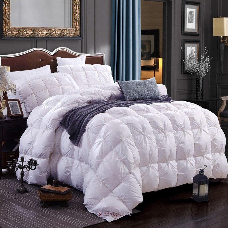 luxury white goose duck down comforter blanket quilt home textile french bread duvet for winter. Black Bedroom Furniture Sets. Home Design Ideas