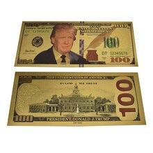 Американская Коллекционная банкнота 45-го президента Дональда Трампа, 100 долларов США, стандартная банкнота для сувенира