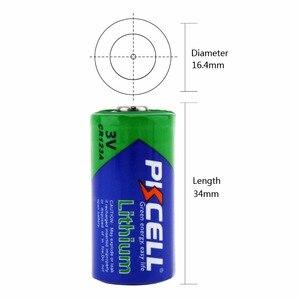 Image 3 - 4 X PKCELL 2/3A pil CR123A CR123 CR 123 CR17335 123A CR17345(CR17335) 16340 3V lityum pil piller için kamera