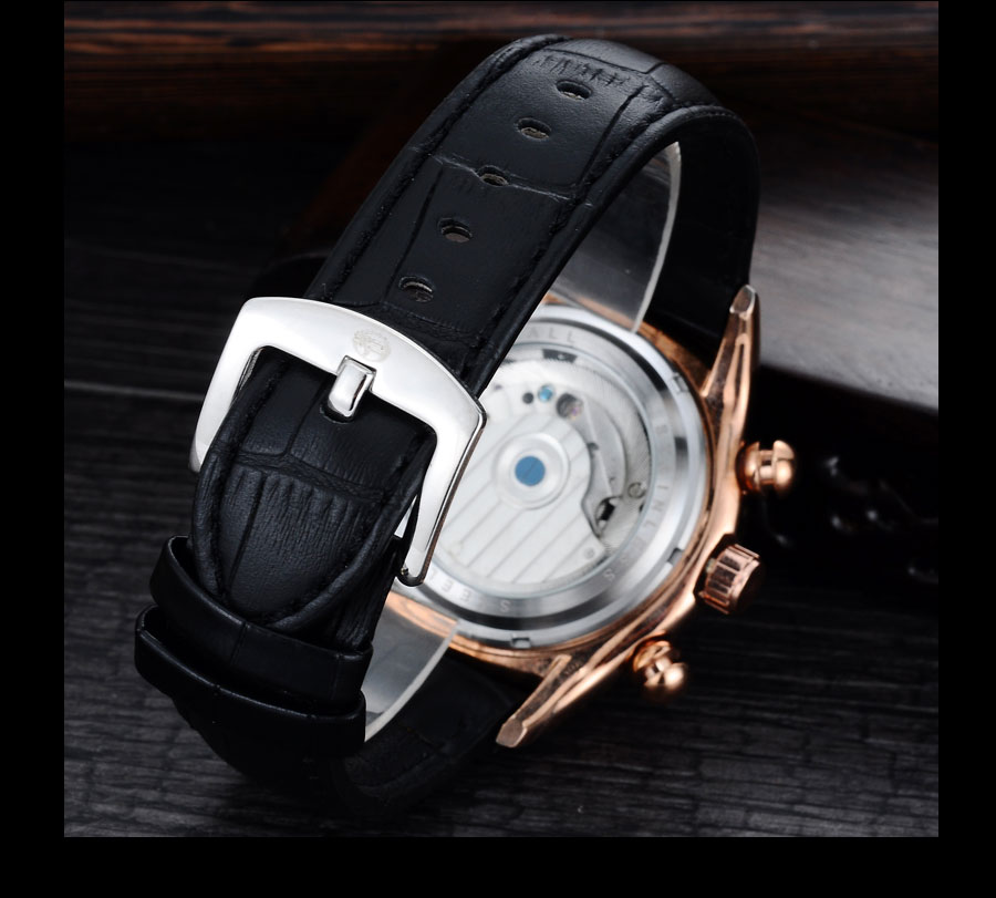 Forsining Convex Glass Stylish Tourbillion 3D Genuine Leather Strap Mens Watches Top Automatic Watch Clock (10)