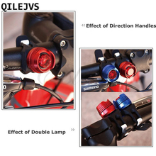 QILEJVS 1pc Bike Bicycle Cycling Front Rear Tail Helmet Flash Light Safety Warning Lamp High Quality