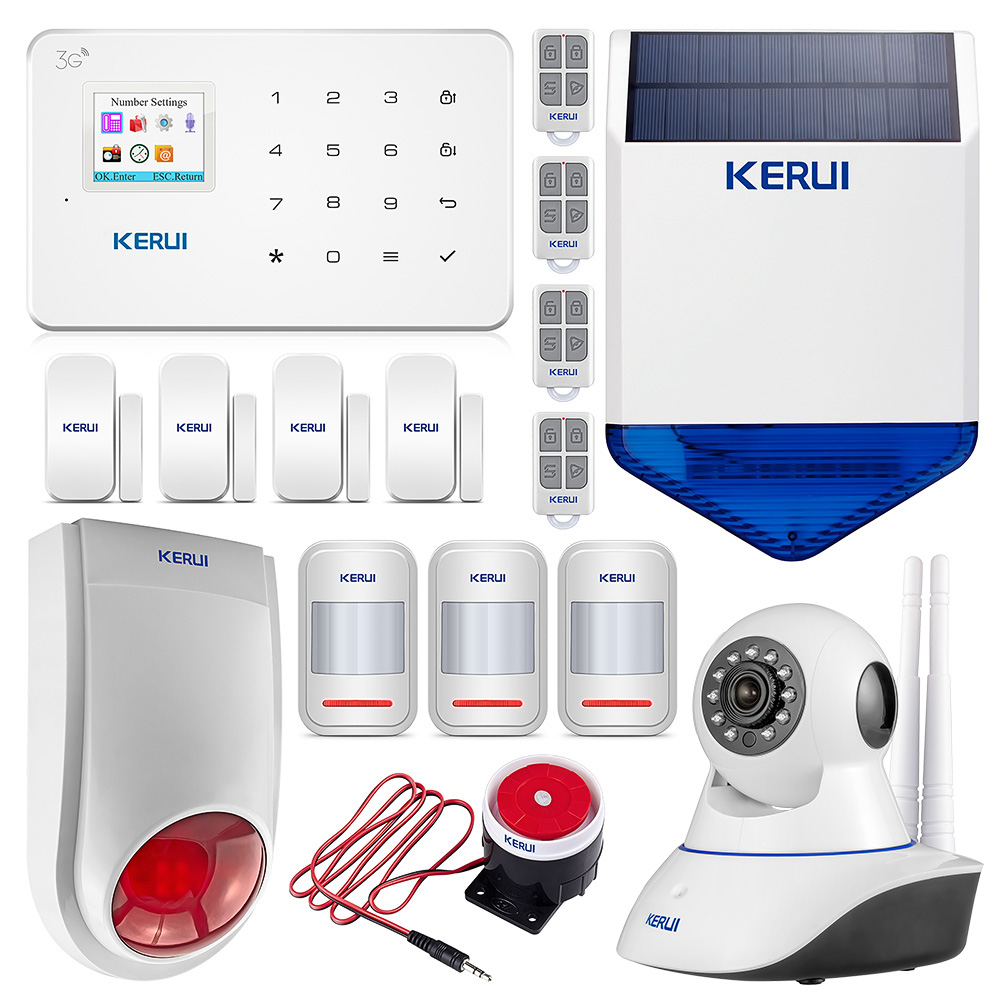 KERUI G183 WCDMA 3G 1.7 Inch TFT Color Screen Display Alarm Systems Wireless GSM Home Burglar Security Alarm System Sets