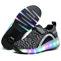2018 Heelys LED Light Sneakers With Wheel Boy Girl Roller Skate Casual Shoe With Roller Girl