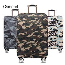 Osmond Camouflage Luggage Cover Elastic Stretch Luggage Protector Suitcase Cover Dustproof Travel Trolley Case Cover 18-32 Inch(China)