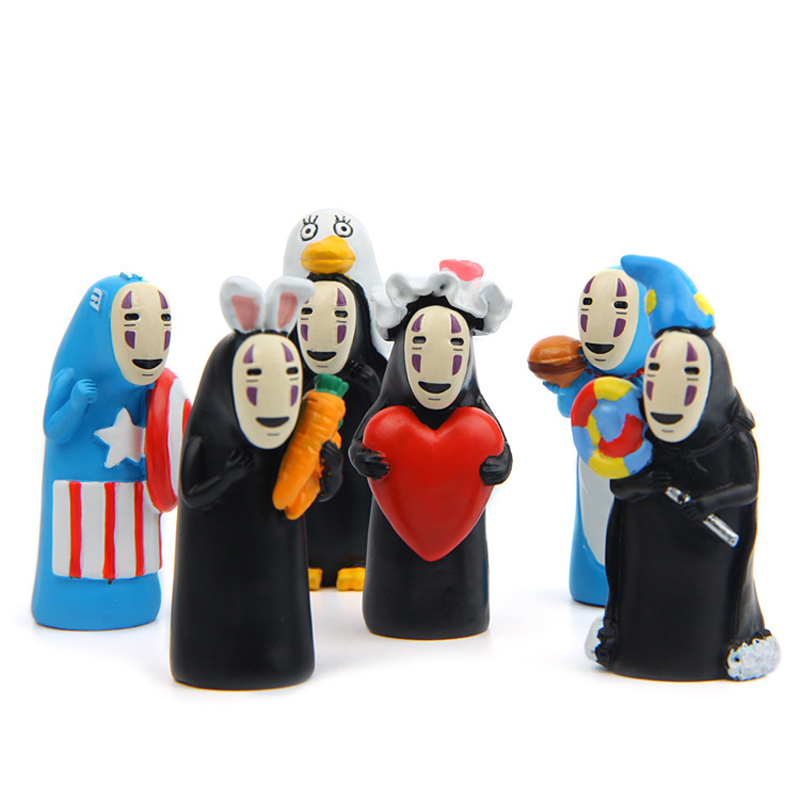 6 Styles Studio Ghibli Miyazaki Hayao Spirited Away No Face Action Figure Toys Diy Pvc No Face Cute Figures Collection Model Toy Toys & Hobbies