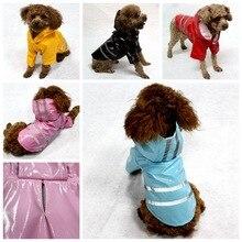 Всесезонный плащ для собак Водонепроницаемая Куртка Светоотражающий наряд одежда с капюшоном для толстовки для собак для кошек маленькие собаки