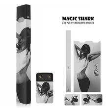 Magic Shark Sexy Women Punk Man Printing PVC Case Cover Skin For JUUL E Cigarette Sticker Film