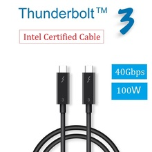 Thunderbolt 3 Cable (Intel Certified 40Gbps 100W20V5A) USB C to USB C Data Transfer for Display Hub Storage 4K5K MacBook Pro HP стоимость