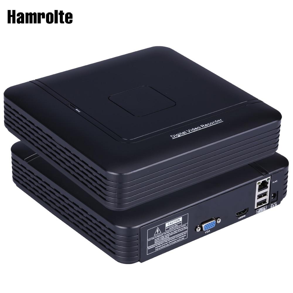 Hamrolte CCTV NVR Onvif Mini 4/8CH NVR Full HD 1080P HI3520D Processor Network Video Recorder For IP Camera Surveillance System