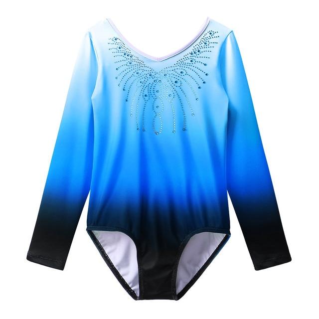 d0908877ae50 BAOHULU Brand New Long Sleeve Gymnastics Leotard for Girls Child ...