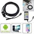 Portátil Mini 2 m 8mm Android OTG 2MP Endoscópio Tubo de Inspeção de Vídeo À Prova D' Água LEVOU USB Micro Câmera