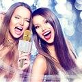 YCDC wireless bluetooth 3.0/4.0 q7/k068 gold/rosy/white gold handheld lapel microphone home ktv amplifier mini karaoke player
