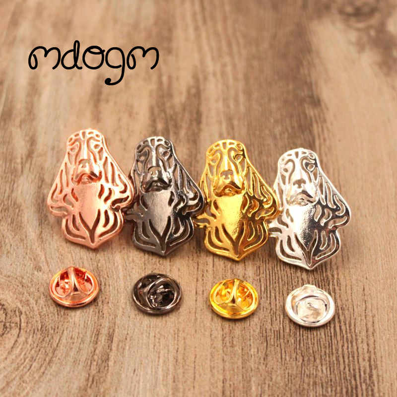 Mdogm 2019 Cocker Spaniel Dog Animal Brooches And Pins  Suit Cute Metal Funny Small Father Collar Badges Gift For Male Men B084